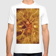 Dandelion Clock SMALL White Mens Fitted Tee