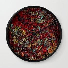 Encaustic Series - Veins & Organs Wall Clock