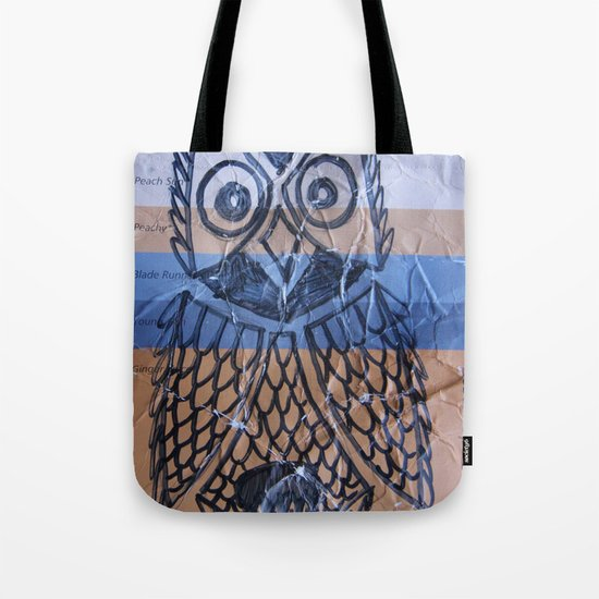 orange owl Tote Bag