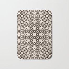-A28- Brown Traditional Moroccan Pattern Artwork. Bath Mat