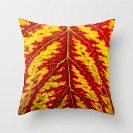 Tiger Leaf Throw Pillow