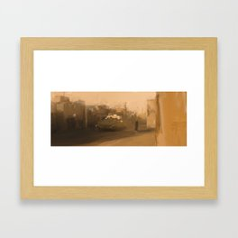 No place to be. Framed Art Print