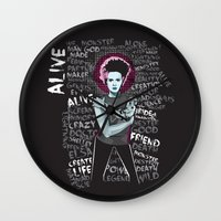 bride Wall Clocks featuring Bride by Matt Fontaine
