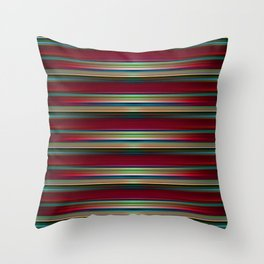 Parallel lines 3d pattern Throw Pillow
