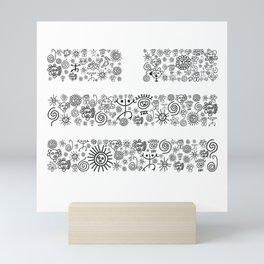 Valley: Black and White Mini Art Print