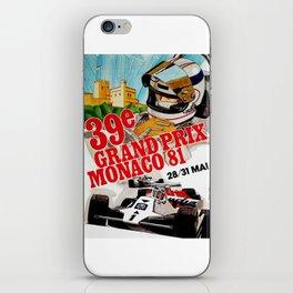 Gran Prix de Monaco, 1981, original vintage poster iPhone Skin