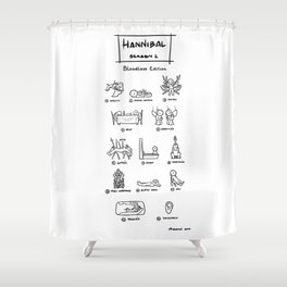 Hannibal - Season 1: Bloodless Edition! Shower Curtain