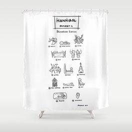 Hannibal - Season 1: Bloodless Edition! Shower Curtain