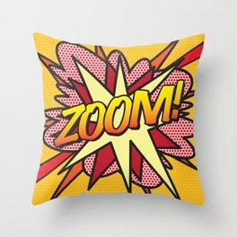Comic Book ZOOM! Throw Pillow