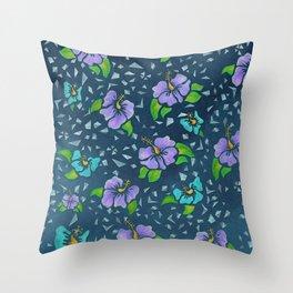 Flor De Maga - Cool Colors Throw Pillow
