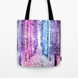 Magical Forest : Pastel Pink Lavender Aqua Periwinkle Ombre Tote Bag