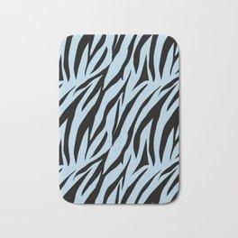 Zebra. 1  Black stripes on light blue background. Bath Mat