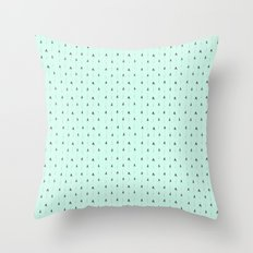 mint magic arrows Throw Pillow