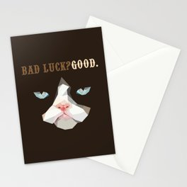 Grumpy Bad Luck Cat Stationery Cards