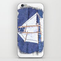 sailboat iPhone & iPod Skins featuring Sailboat by Michael P. Moriarty