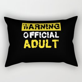 Warning Official Adult 18th Birthday Rectangular Pillow