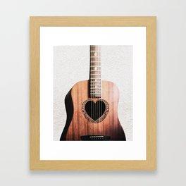 Guitar Heart Framed Art Print