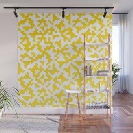 Drunken Path Pattern - Lemon Yellow Wall Mural