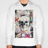 skull Hoodies featuring Skull by FAMOUS WHEN DEAD