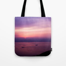 Mount Hakodate Sunset Tote Bag