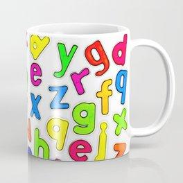 Jumbled up Multi Coloured Letters Coffee Mug