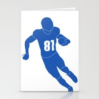 allyson johnson Stationery Cards featuring Calvin Johnson by OligerIllustrations