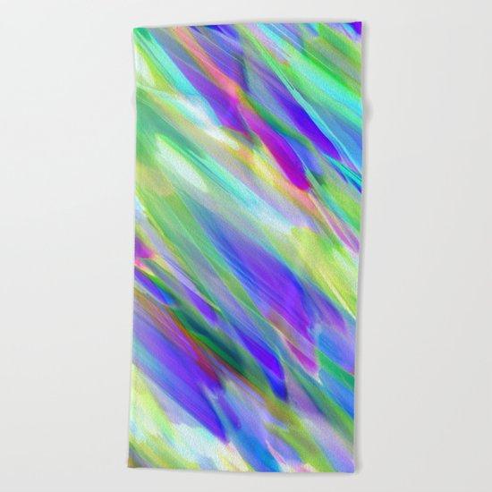 Colorful digital art splashing G401 Beach Towel