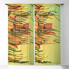 The Sewing Kit- Abstract Fantasy Decoupage Blackout Curtain