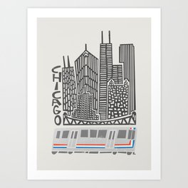 Chicago Cityscape Art Print