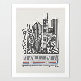 Chicago Cityscape Art Print