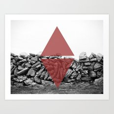 red walls Art Print