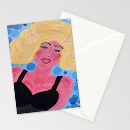 The Bubble in the Mind of a Blond Stationery Cards