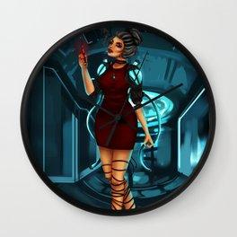 Cybernetic girl Wall Clock