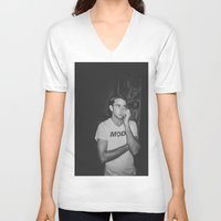 mod V-neck T-shirts featuring MOD by Pitter Patterns