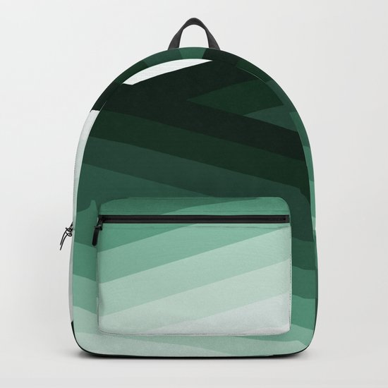 Serene Contemporary Green Ombre Design Backpack