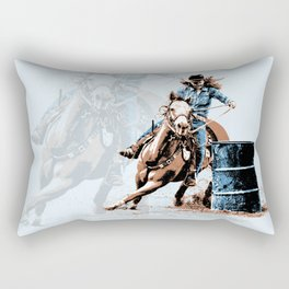 Barrel Racing - Life in the Fast Lane Rectangular Pillow