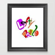 Lefty Pride Framed Art Print