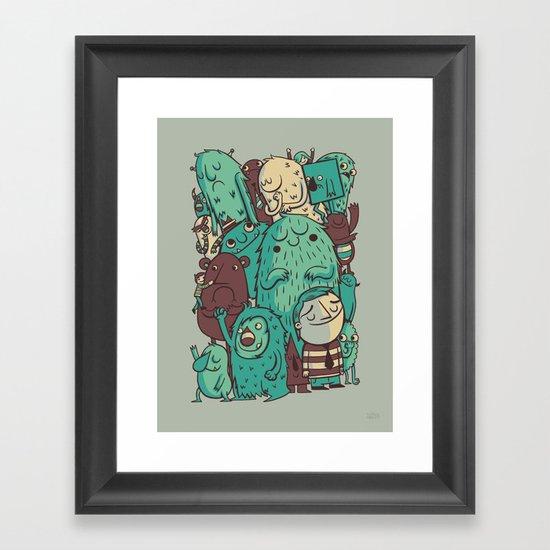 An Odd Crowd Framed Art Print