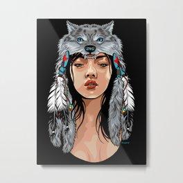 She Wolf Metal Print