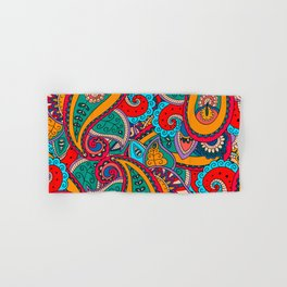 African tribal floral pattern Hand & Bath Towel