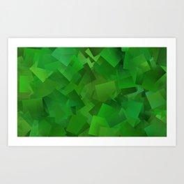 Cubed grass ... Art Print
