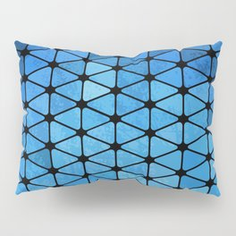 Blue Geometric Pillow Sham