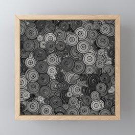 Heavy iron / 3D render of hundreds of heavy weight plates Framed Mini Art Print