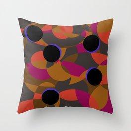 80s Classy Circle Retro Fashion Silk Shirt Throw Pillow