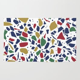 Terrazzo Spot Color on White Rug