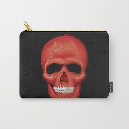 Red Skull Pixelated Carry-All Pouch