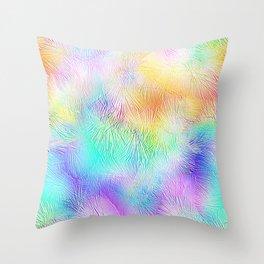 Blue Pastel Fireworks Throw Pillow