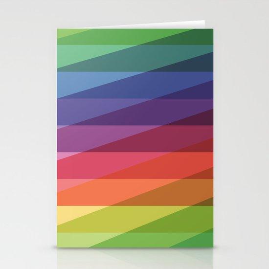 Fig. 040 Rainbow Stripes Stationery Cards
