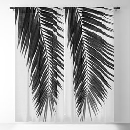 Palm Leaf Black & White I Blackout Curtain