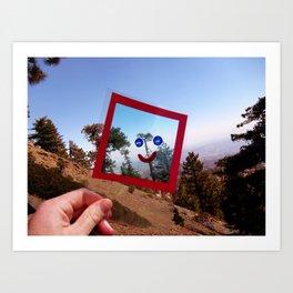 Nature Faces - Tree Waving Goodbye Art Print